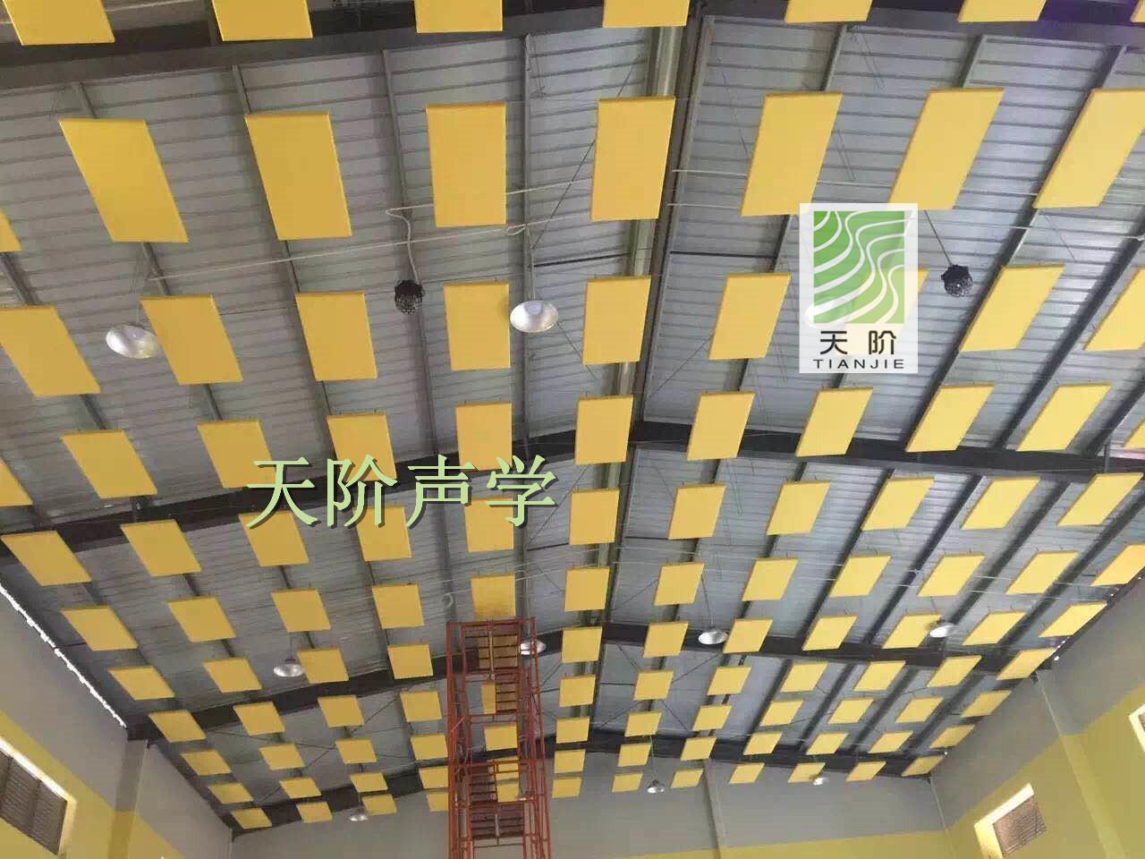 湖南常德小学体育馆平板空间吸声体工程