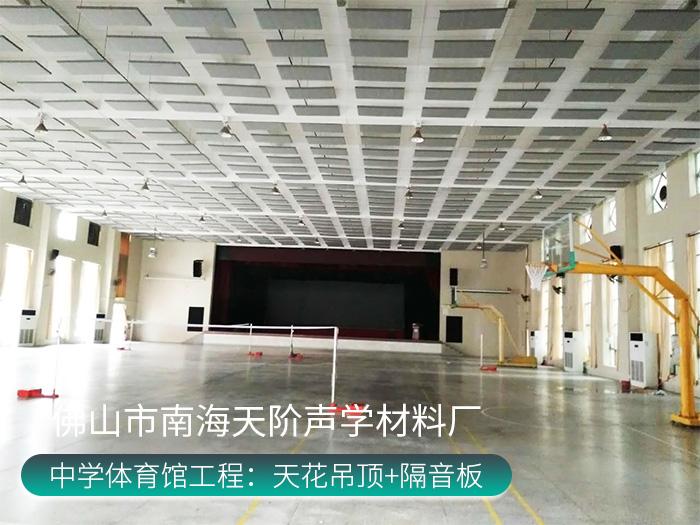 湖南衡阳祁东育贤中学体育馆隔音工程