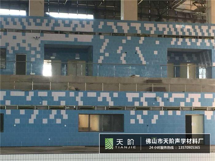 武汉商学院游泳声学吸音案例